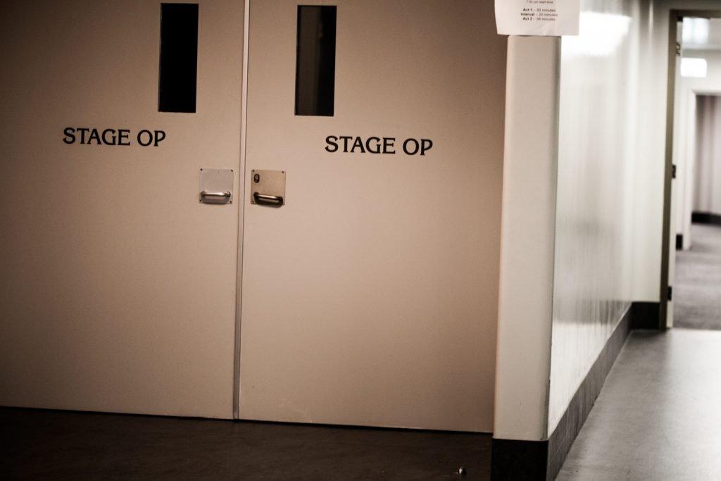 Close up of doors backstage at Arts Centre Melbourne