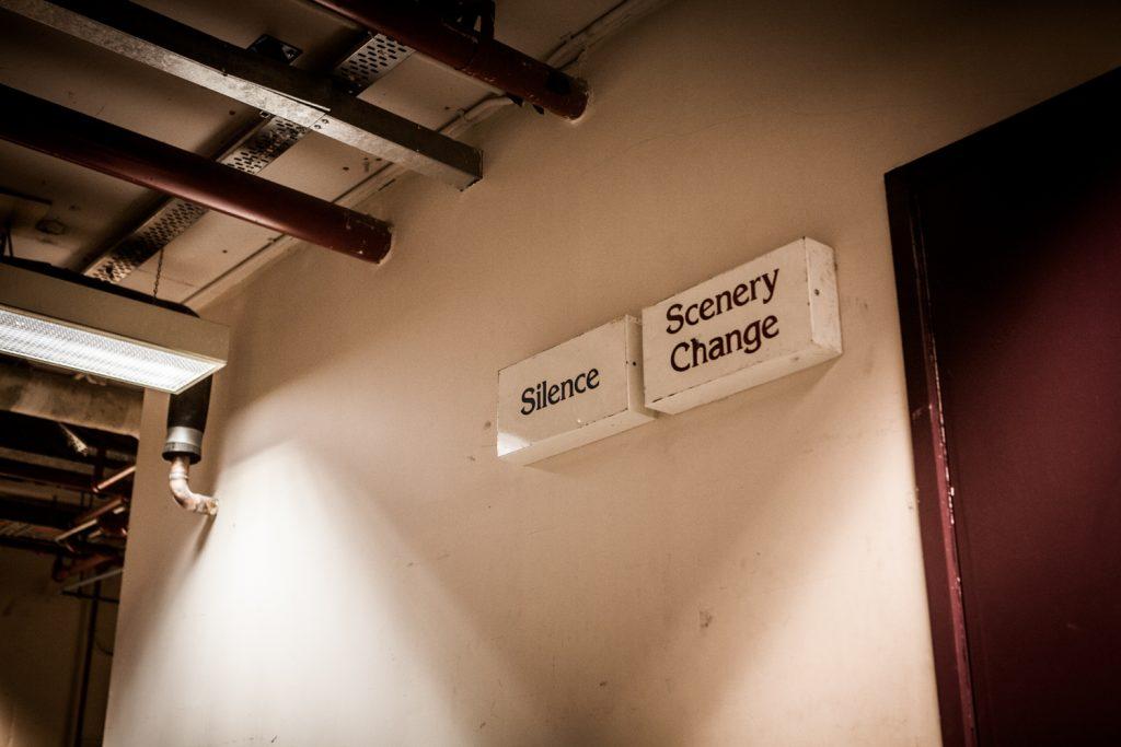 Signage backstage at Arts Centre Melbourne
